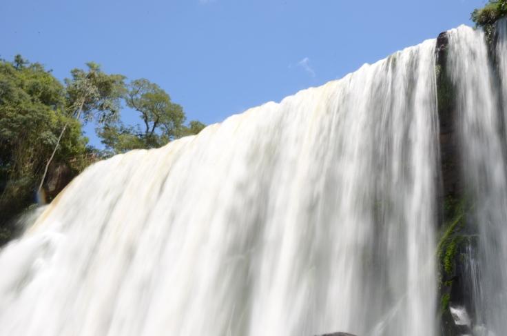 close up waterfall Iguazu Falls Argentina