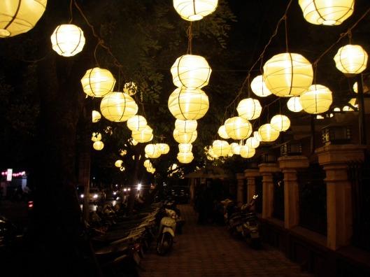 hanging lanterns Vietnam