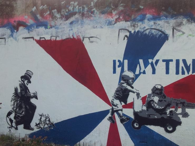 political satire street art Wenzel Buenos Aires