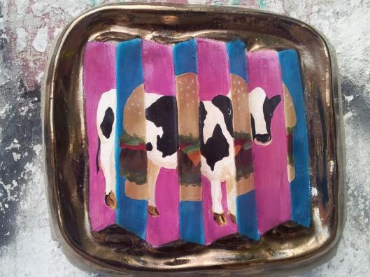 Buenos Aires hamburger cow street art