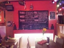 blackboard big red pizza