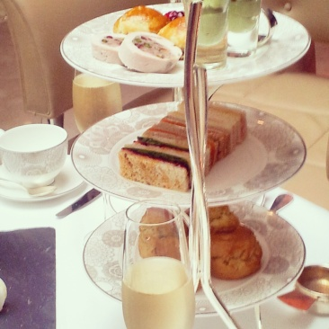 champagne afternoon tea Conrad Hotel Westminster
