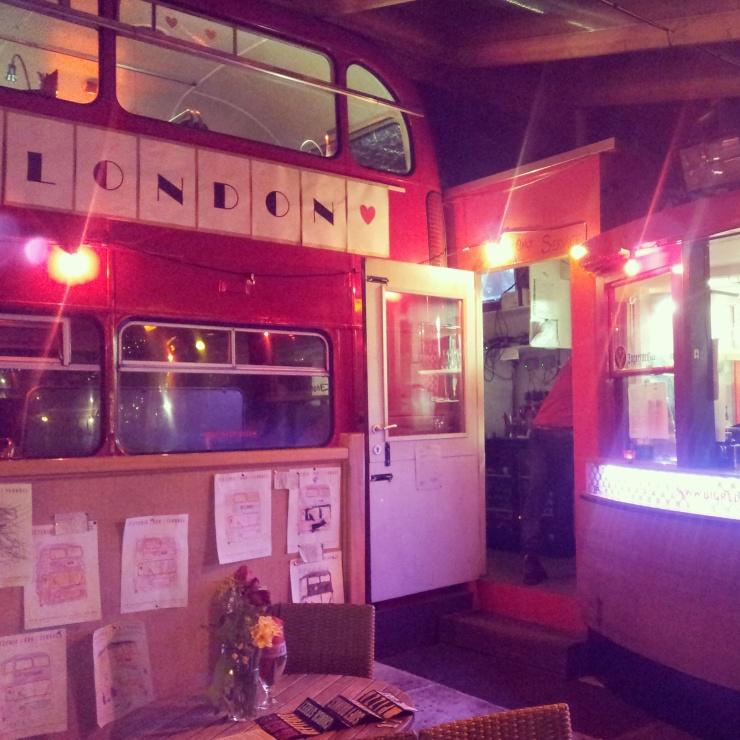 Big Red Pizza Bus Restaurant Deptford London