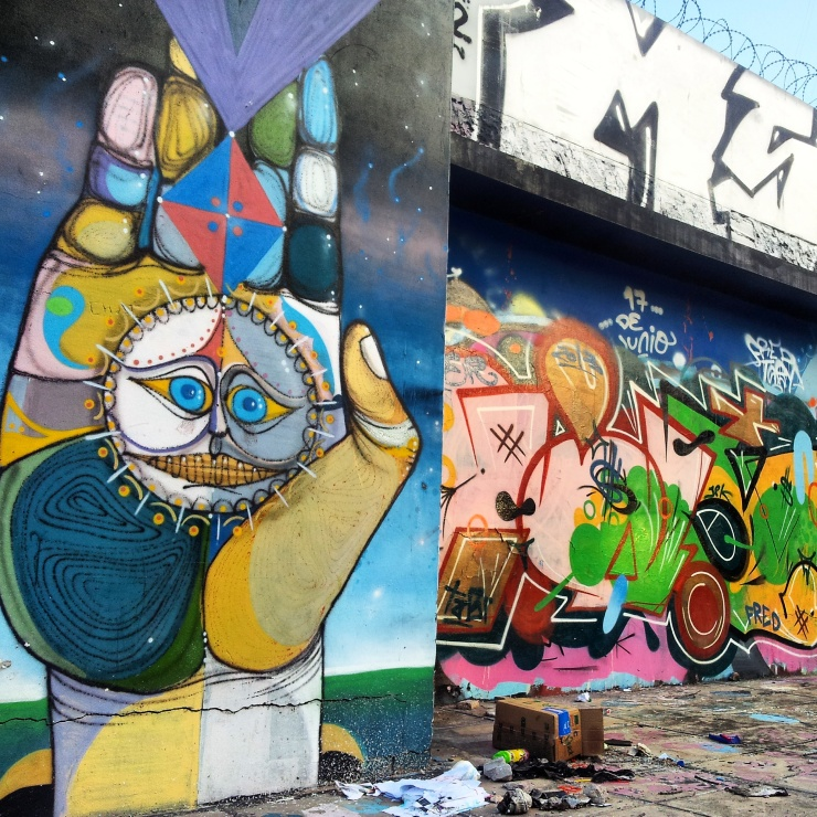 buenos aires street art colourful hand