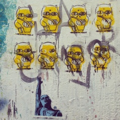 yellow street art Buenos Aires