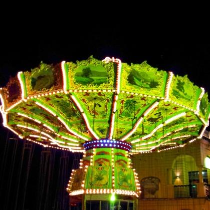vienna ferris wheel lit up Christmas