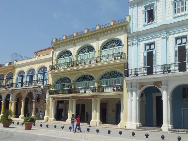 Old Havana Vieja colourful buildings