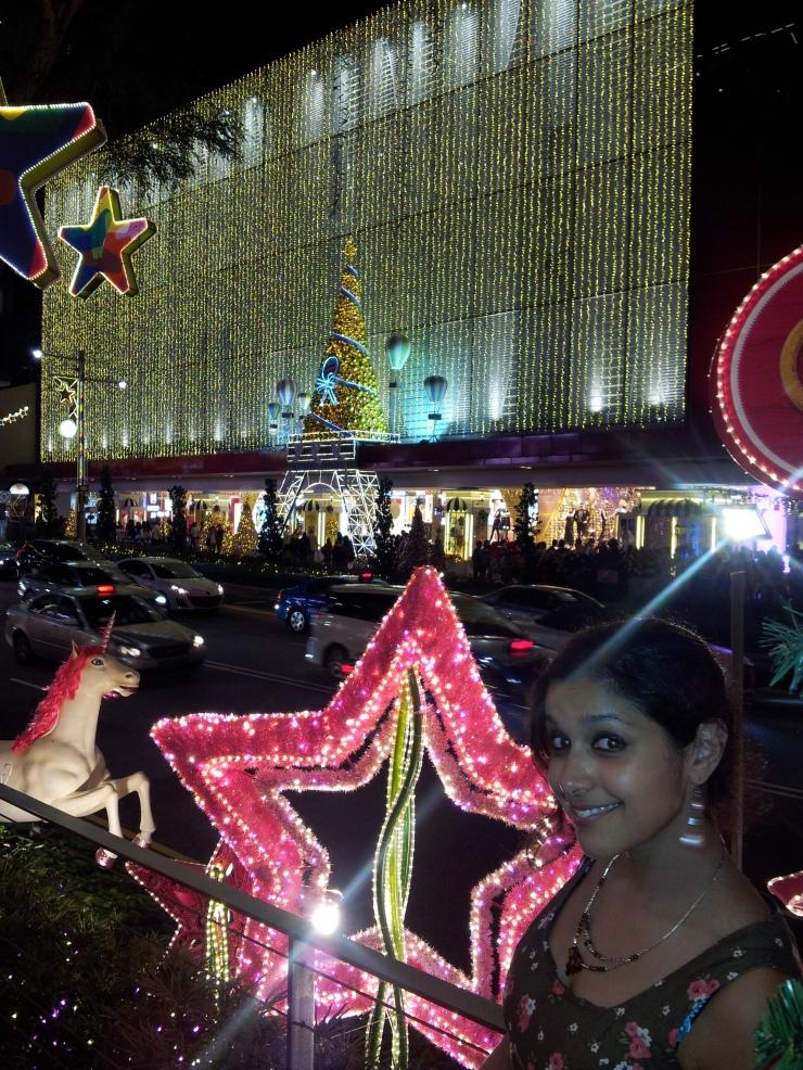 pink star shaped Christmas light Singapore
