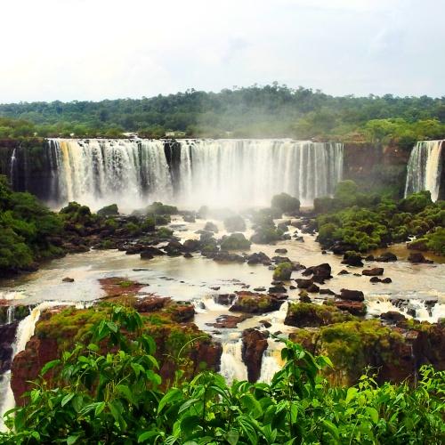 Iguazu Falls view from Brazil