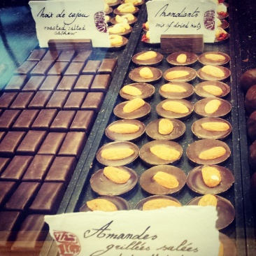 nutty chocolates Laurent Gerbaud Brussels