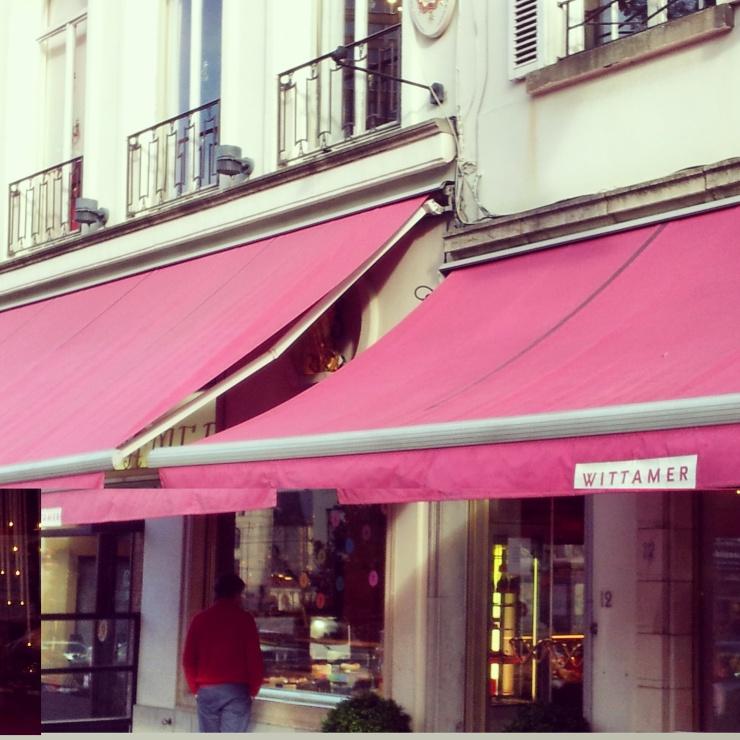 Wittamer cafe Sablon square Brussels