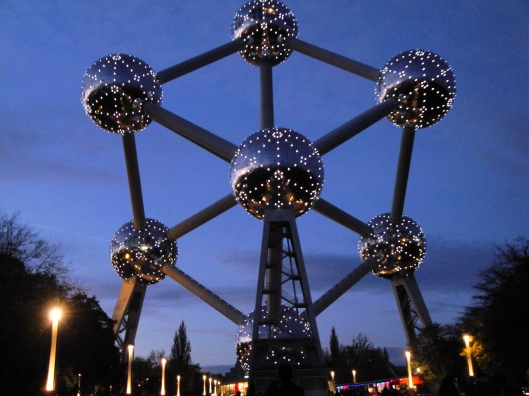 Atomium Brussels night time photos