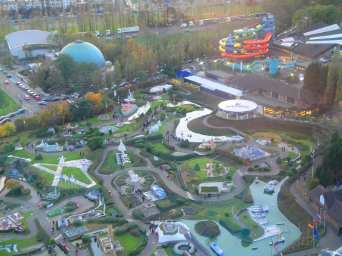 panormaic view from top of Atomium