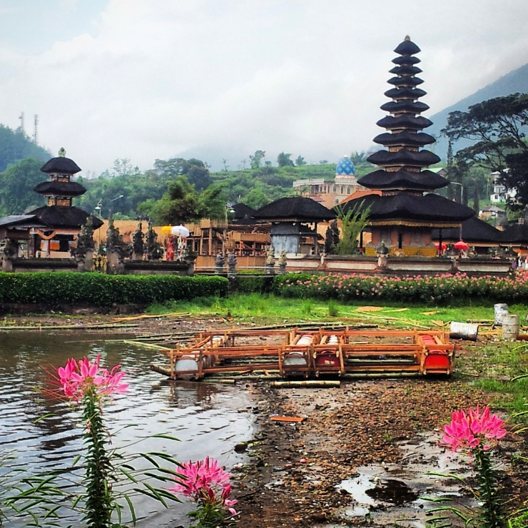 Pura Ulan Danu temple by the lake Bali
