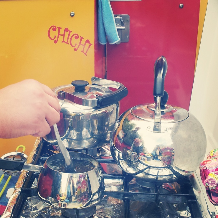Moroccan fresh mint tea stall Place Jourdan Market Brussels