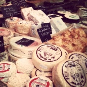 farmers' market cheese stall Brussels