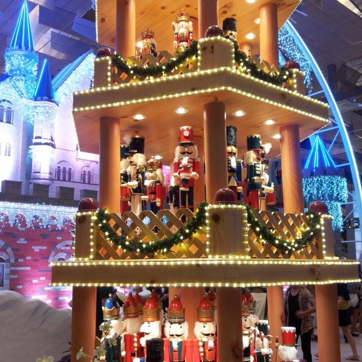 Christmas decoration nutcracker Changi Airport Singapore