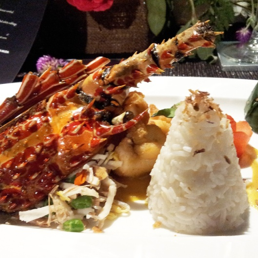 Indonesian Bali stir fried lobster Kayumanis chef collaboration dinner