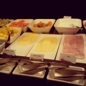 cheese deli meat Park Inn Bruxelles buffet breakfast choices
