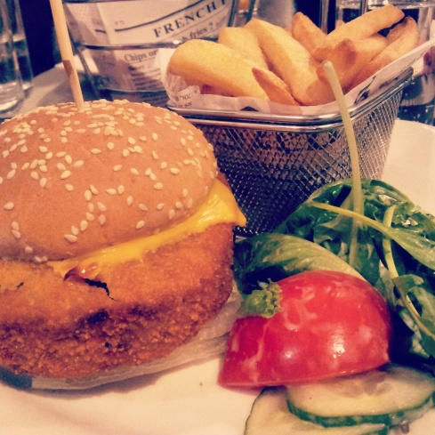 vegetarian burger frites dinner Park Inn Brussels restaurant