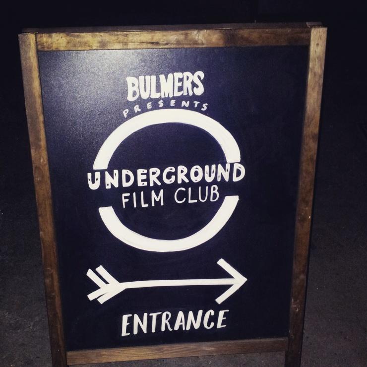 Bulmers Underground Film Club