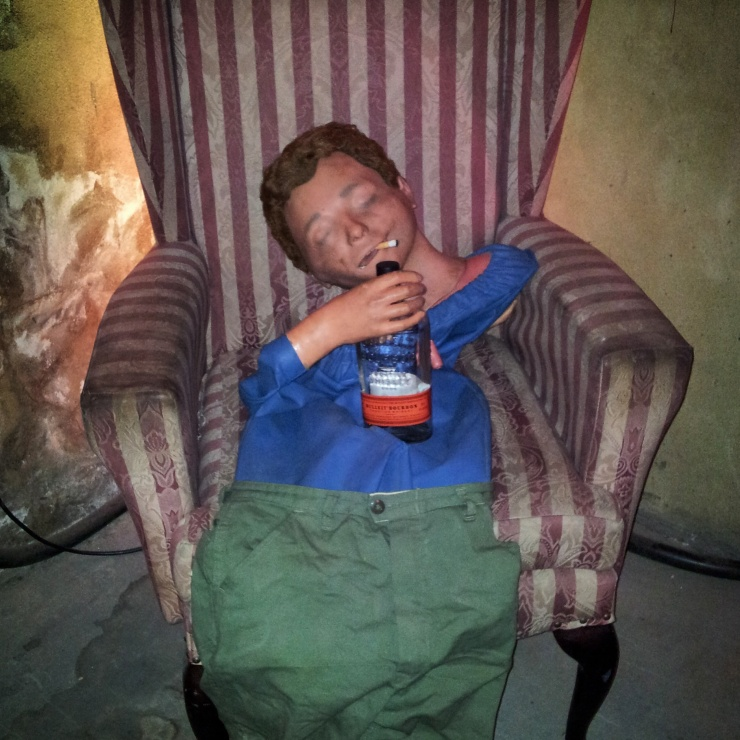 drunk man chair underground cinema