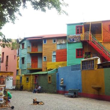 La Boca colourful buildings Buenos Aires