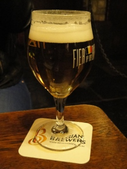 Belgian beer museum beer glass
