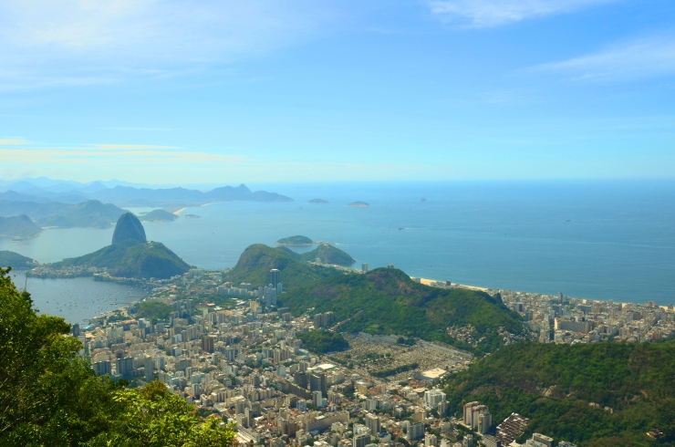 view of Sugarloaf mountain Rio from Corcovado