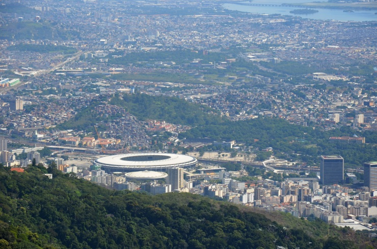 Maracana stadium view from Corcovado