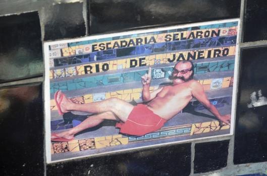 Jorge Selaron tribute stairs Rio