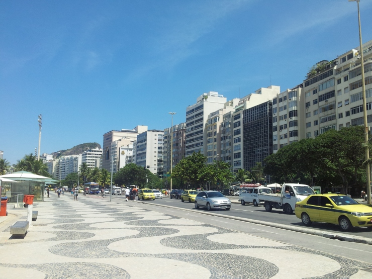 Copacabana main wide road