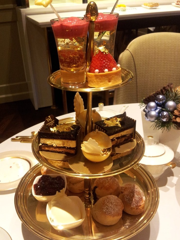 24 karat gold afternoon tea London