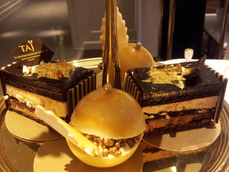 desserts 24 Karat Gold Afternoon Tea St James Court