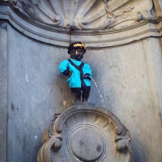 Manneken Pis statue Brussels