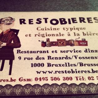 Restobieres business card