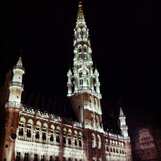 Grand Place Brussels at night
