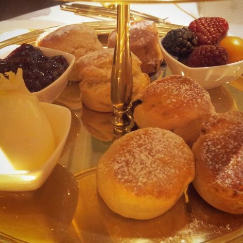 scones gold afternoon tea