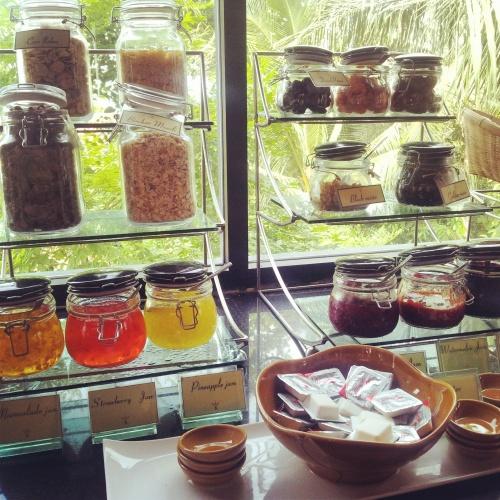 jam honey spread breakfast buffet Crown Lanta Resort
