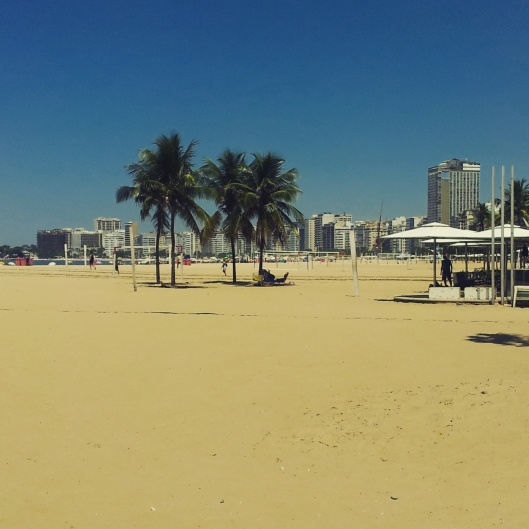Copacabana sandy beach Rio