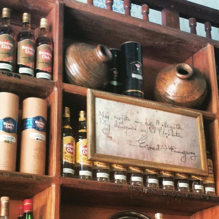 Hemingway Bar Havana Cuba