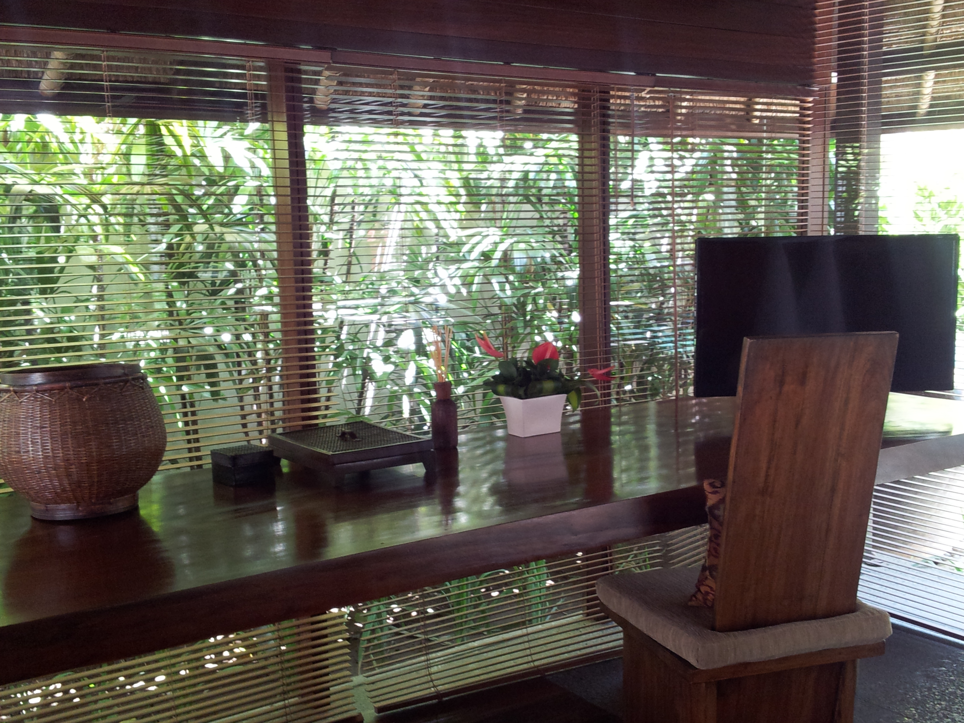 Inside our luxury private pool villa in bali at the for Balinese decoration