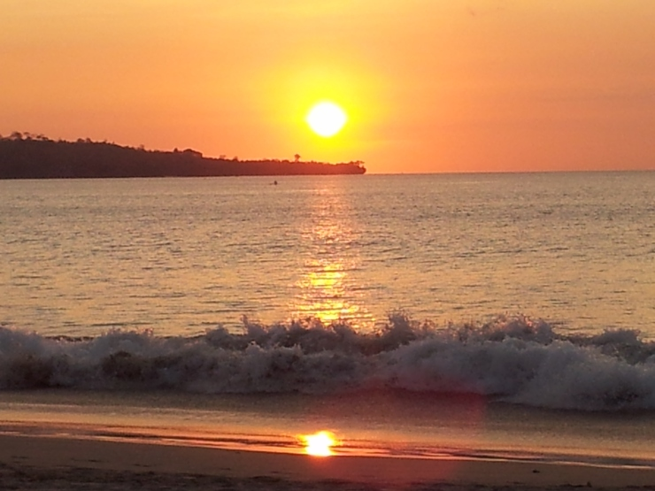 sunset Jimbaran Bay