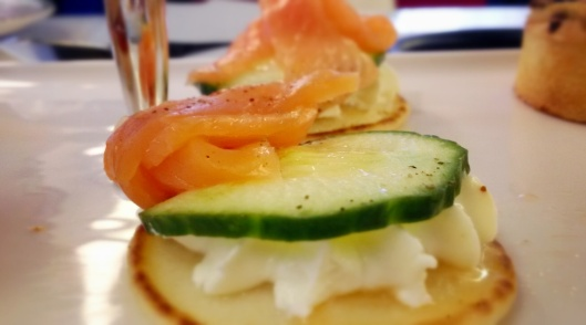 afternoon tea bus salmon and cucumber