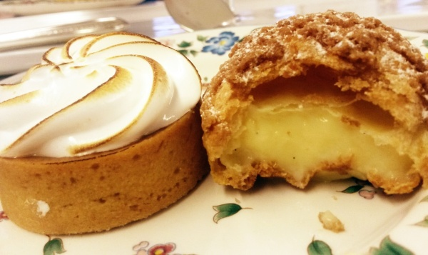 lemon meringue pie choux bun afternoon tea