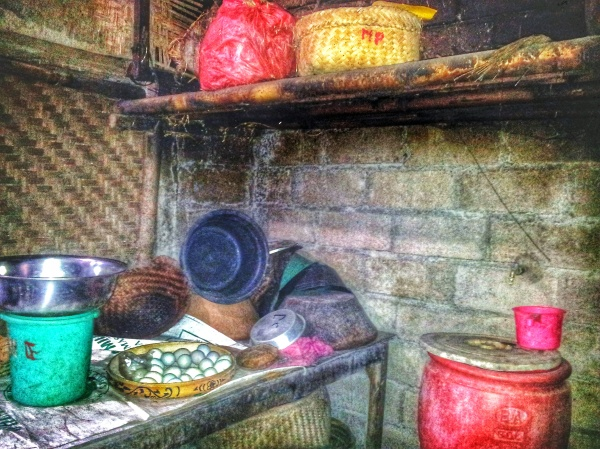 Balinese family kitchen