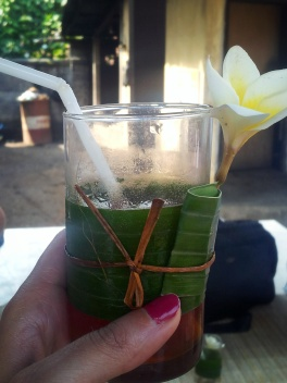 welcome drink Payuk Bali cookery class