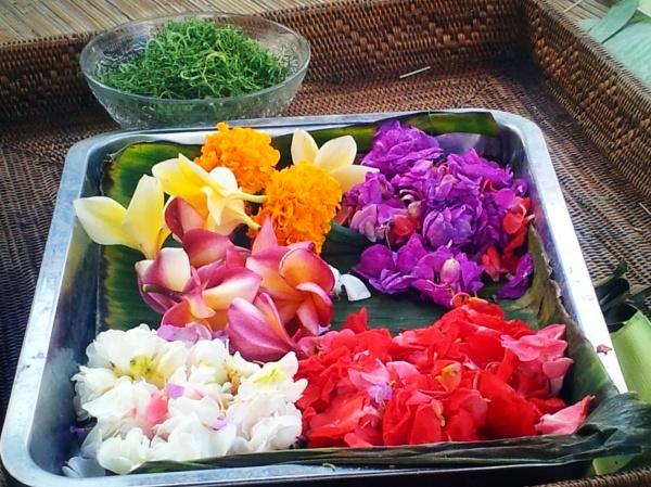 Balinese flower offering