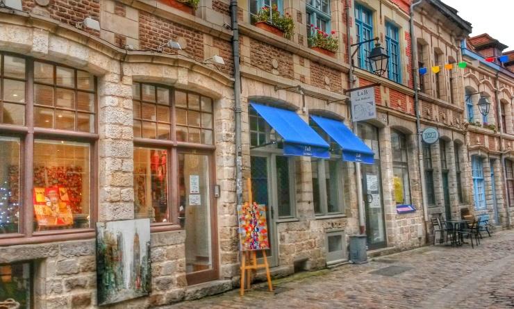 Lille streets cobblestond