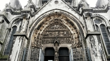 Gothic architecture Lille cathedral
